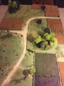 End of turn 1 with forces deployed.