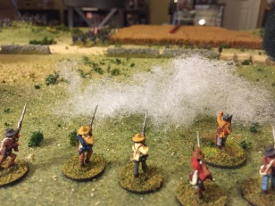 Confederate skirmisher viewpoint early in the fight.